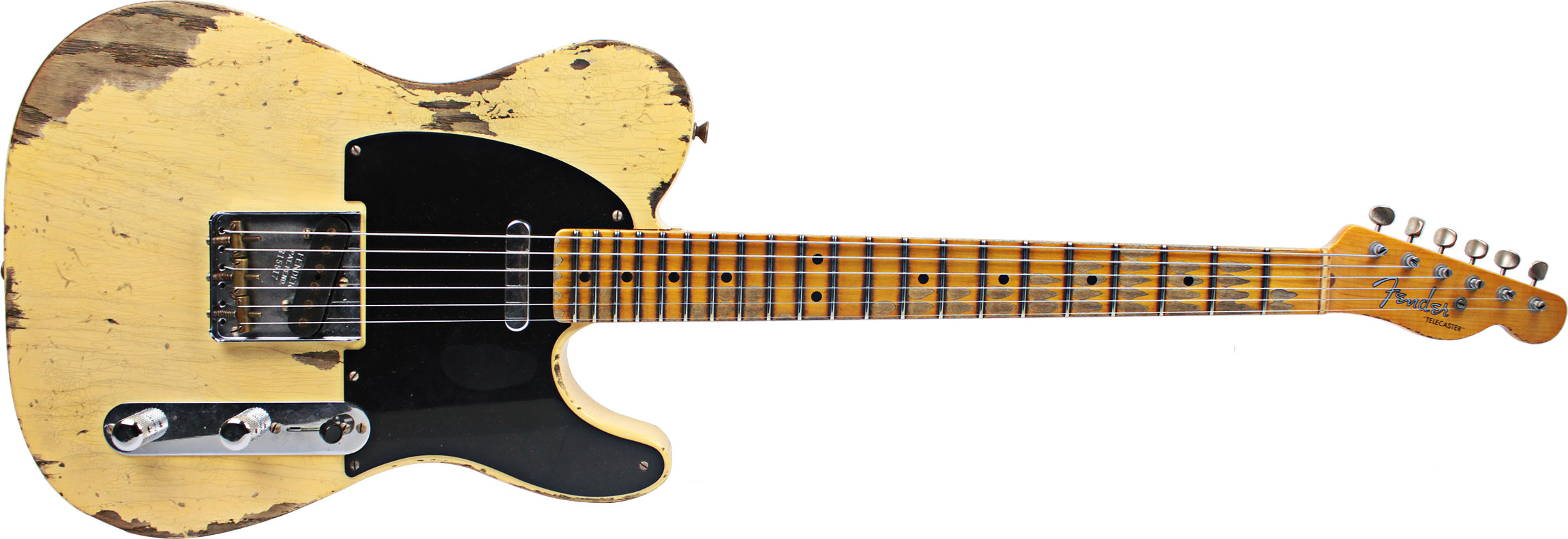 GUITARRA FENDER 51 TELECASTER HEAVY RELIC TIME MACHINE 155-0512-899 FADED NOCASTER BLONDE