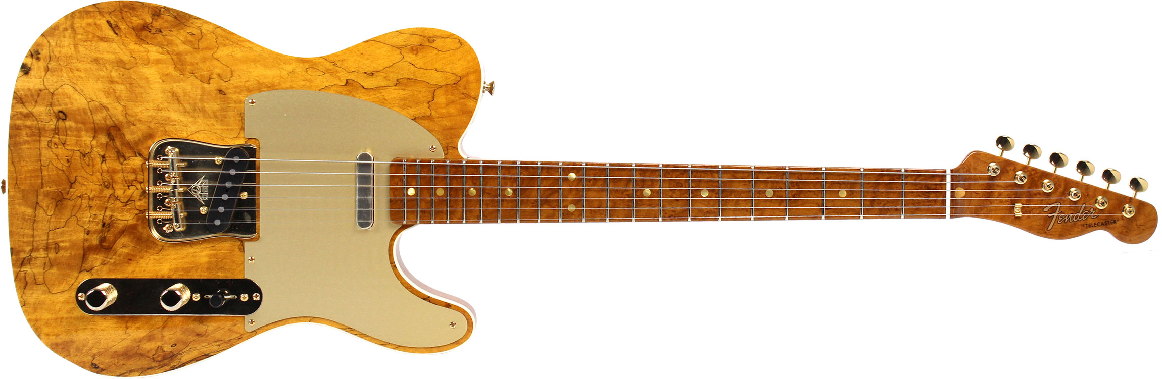 GUITARRA FENDER 152 1140 - TELECASTER ARTISAN SPALTED MAPLE - 821 - NATURAL