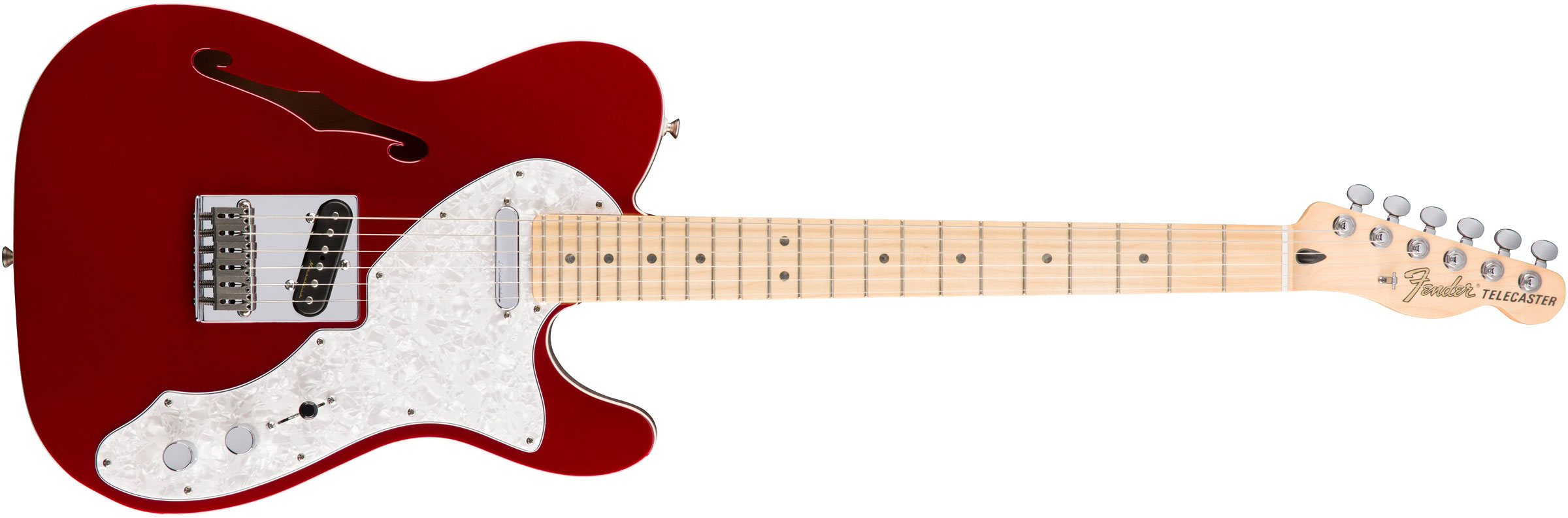 GUITARRA FENDER 014 7602 - DELUXE TELE THINLINE MN - 309 - CANDY APPLE RED