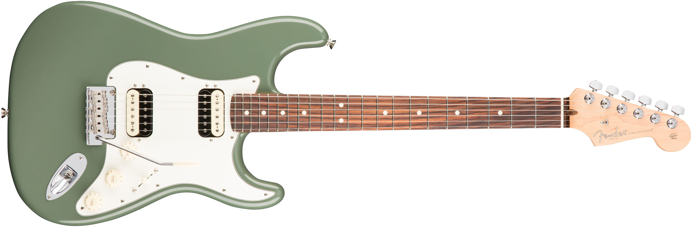 GUITARRA FENDER AM PROFESSIONAL STRATOCASTER SHAWBUCKER HH RW 011-3050-776 ANTIQUE OLIVE