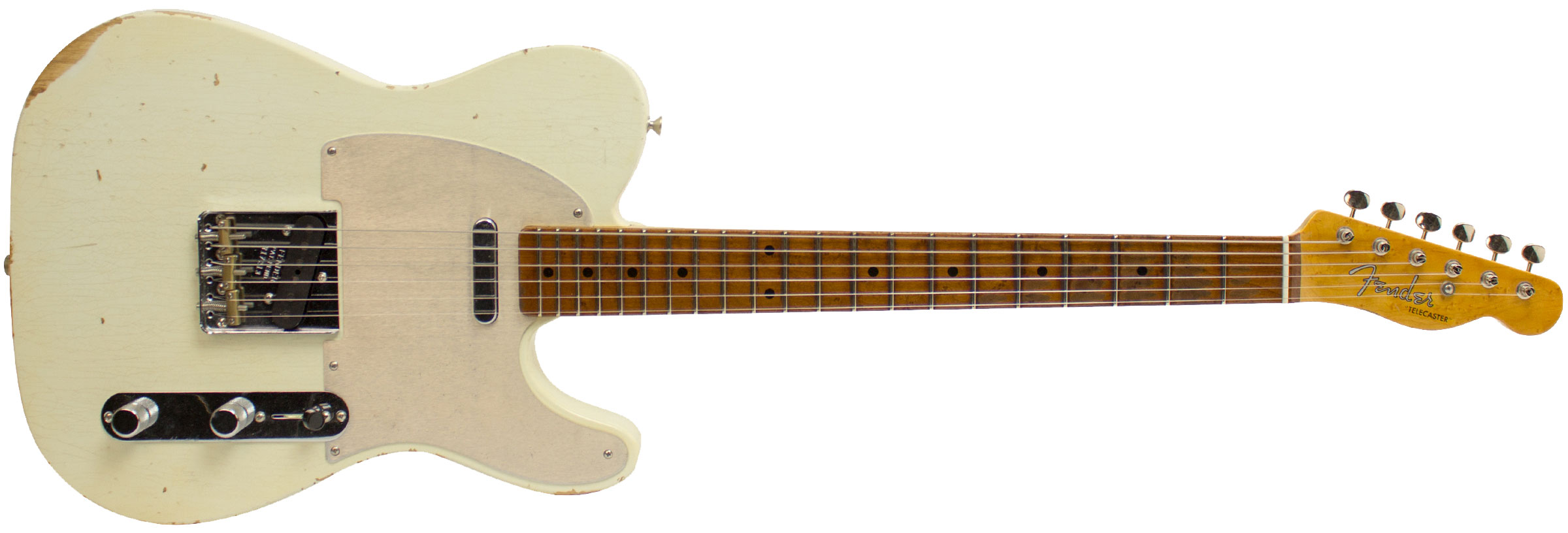 GUITARRA FENDER 923 9822 - TELECASTER ROASTED FRETBOARD RELIC C. BUILT - 805 - AGED OLYMPIC WHITE