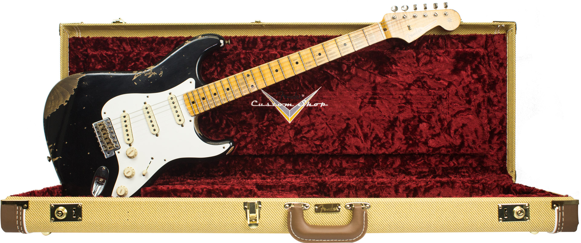GUITARRA FENDER 923 5000 - 58 STRATOCASTER HEAVY RELIC 2018 COLLECTION - 511 - AGED BLACK