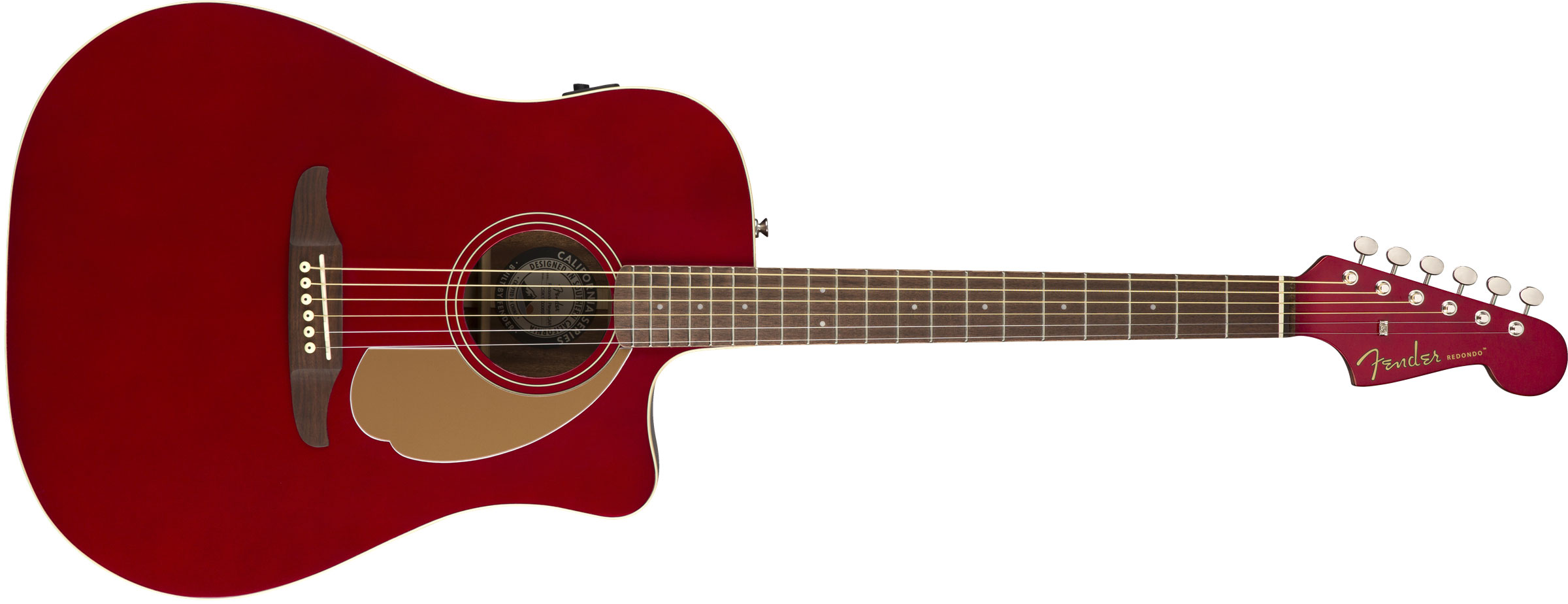 VIOL�O FENDER REDONDO PLAYER 097-0713-509 CANDY APPLE RED