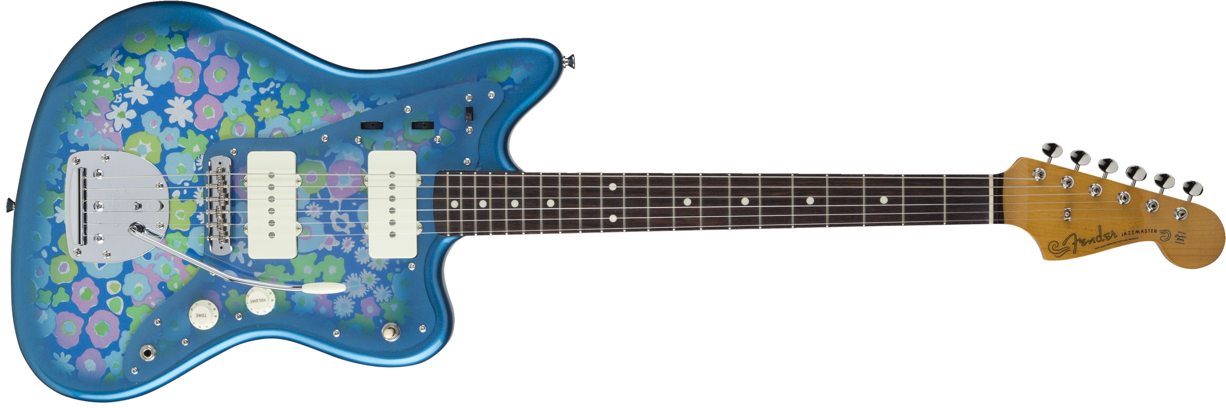 GUITARRA FENDER 535 6600 - JAPAN TRADITIONAL 60S JAZZMASTER - 350 - BLUE FLOWER