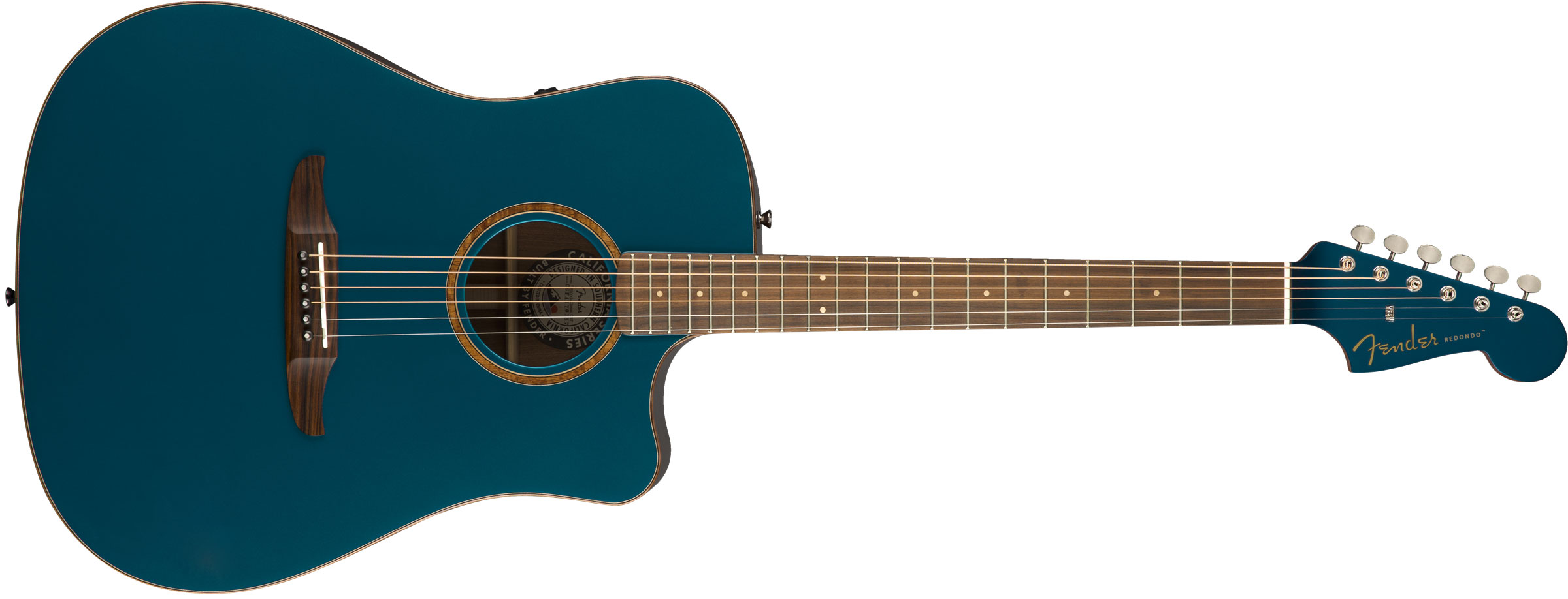VIOL�O FENDER REDONDO CLASSIC W/ DELUXE GIG BAG 097-0913-299 COSMIC TURQUOISE