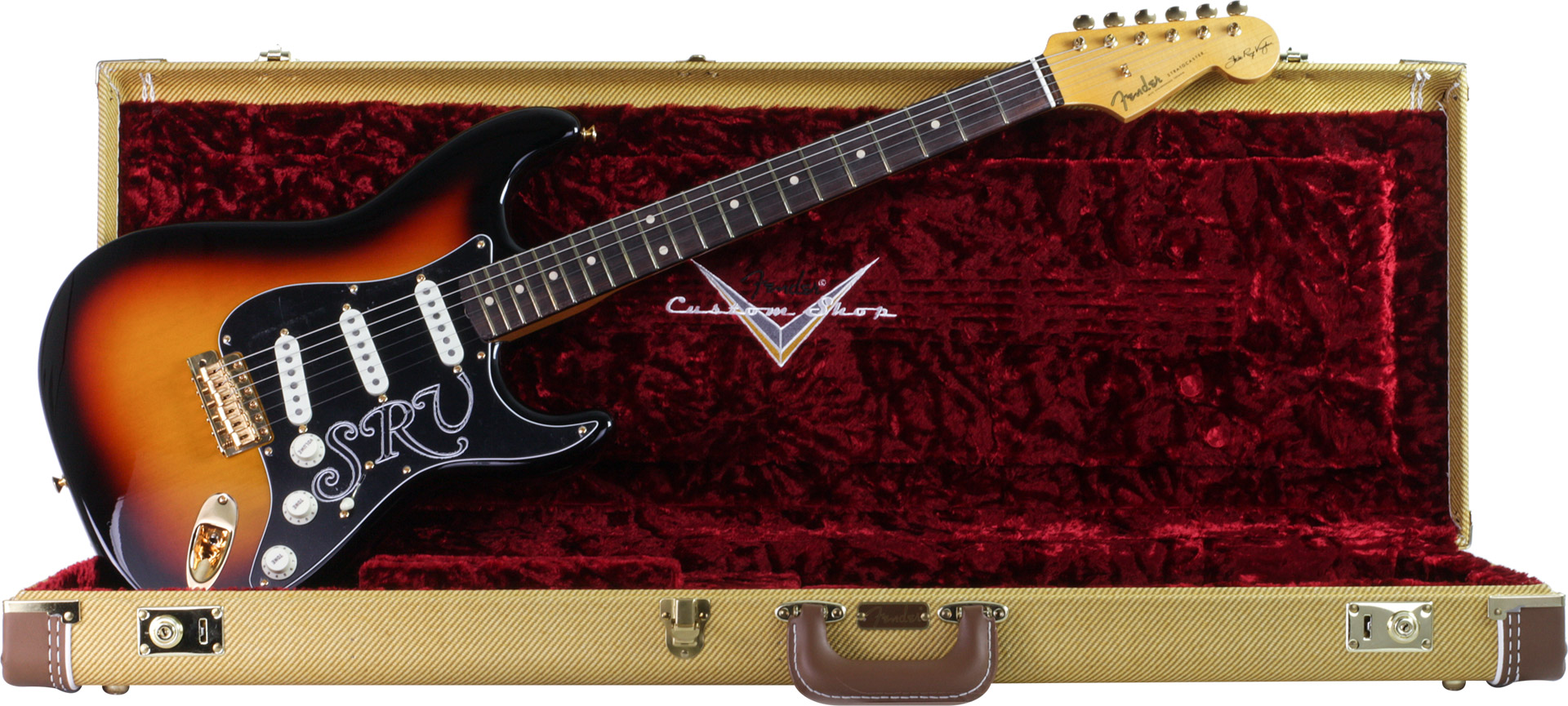 GUITARRA FENDER 923 5000 - SIG SERIES STEVIE RAY VAUGHAN STRATOCASTER NOS LTD ED - 863 - 3-COLOR SB