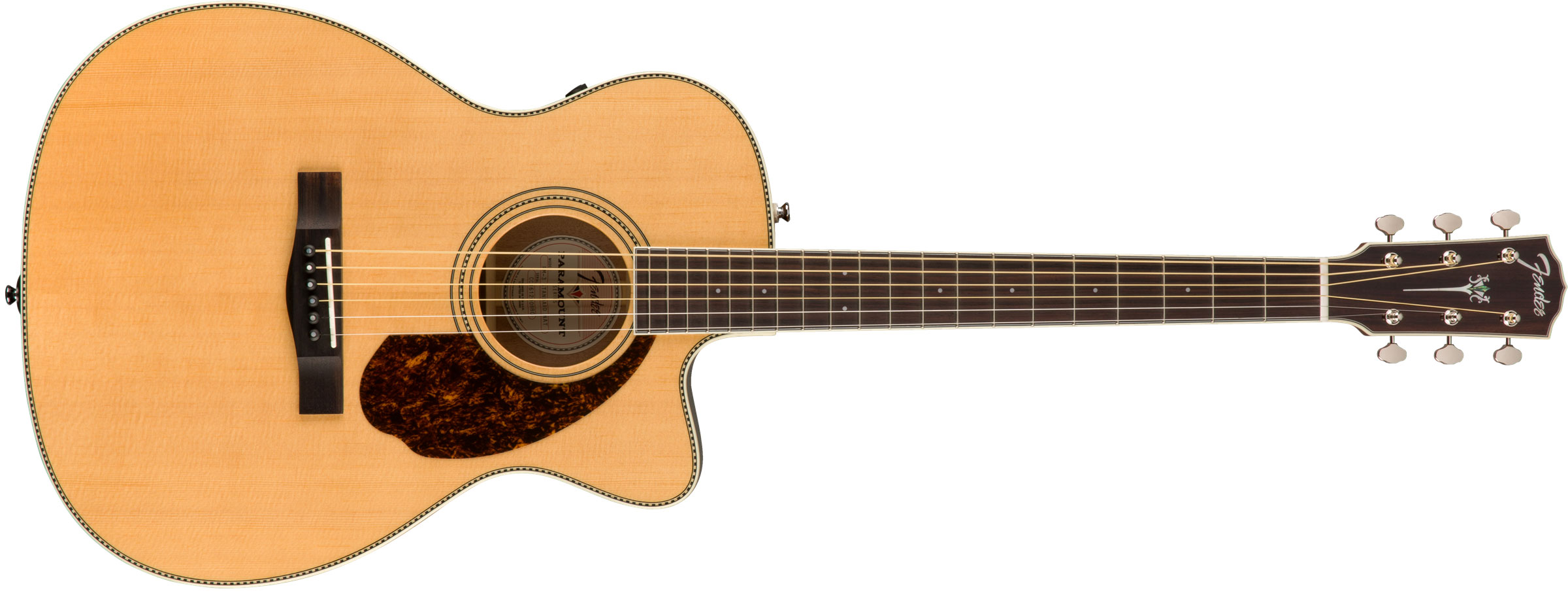 VIOL�O FENDER PARAMOUNT TRIPLE-O PM-3CE STANDARD C/ CASE 097-0333-321 ALL SOLID NATURAL
