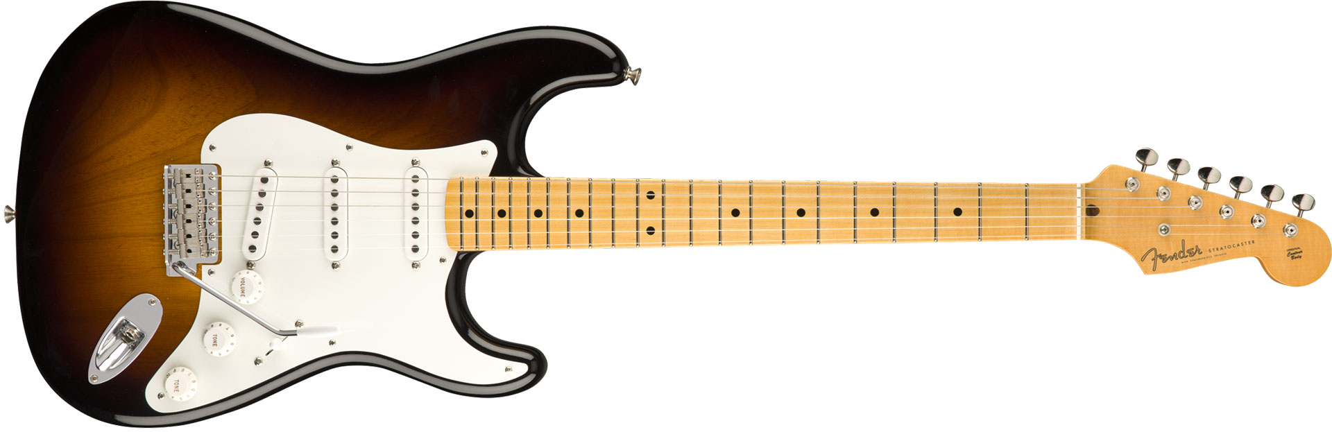 GUITARRA FENDER 55 STRATOCASTER VINTAGE CUSTOM 923-5000-560 WIDE FADE 2-COLOR SUNBURST