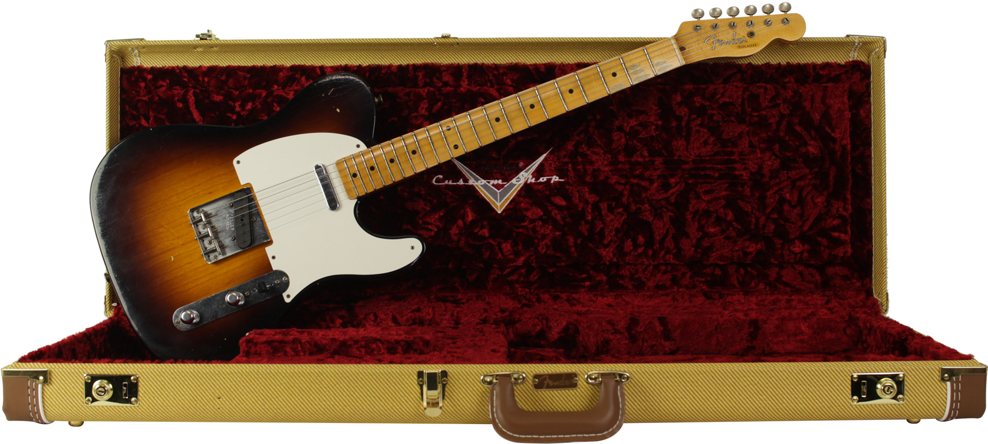 GUITARRA FENDER 56 TELECASTER TIME MACHINE JOURNEYMAN RELIC 923-5000-839 WIDE FADE 2-COLOR SB