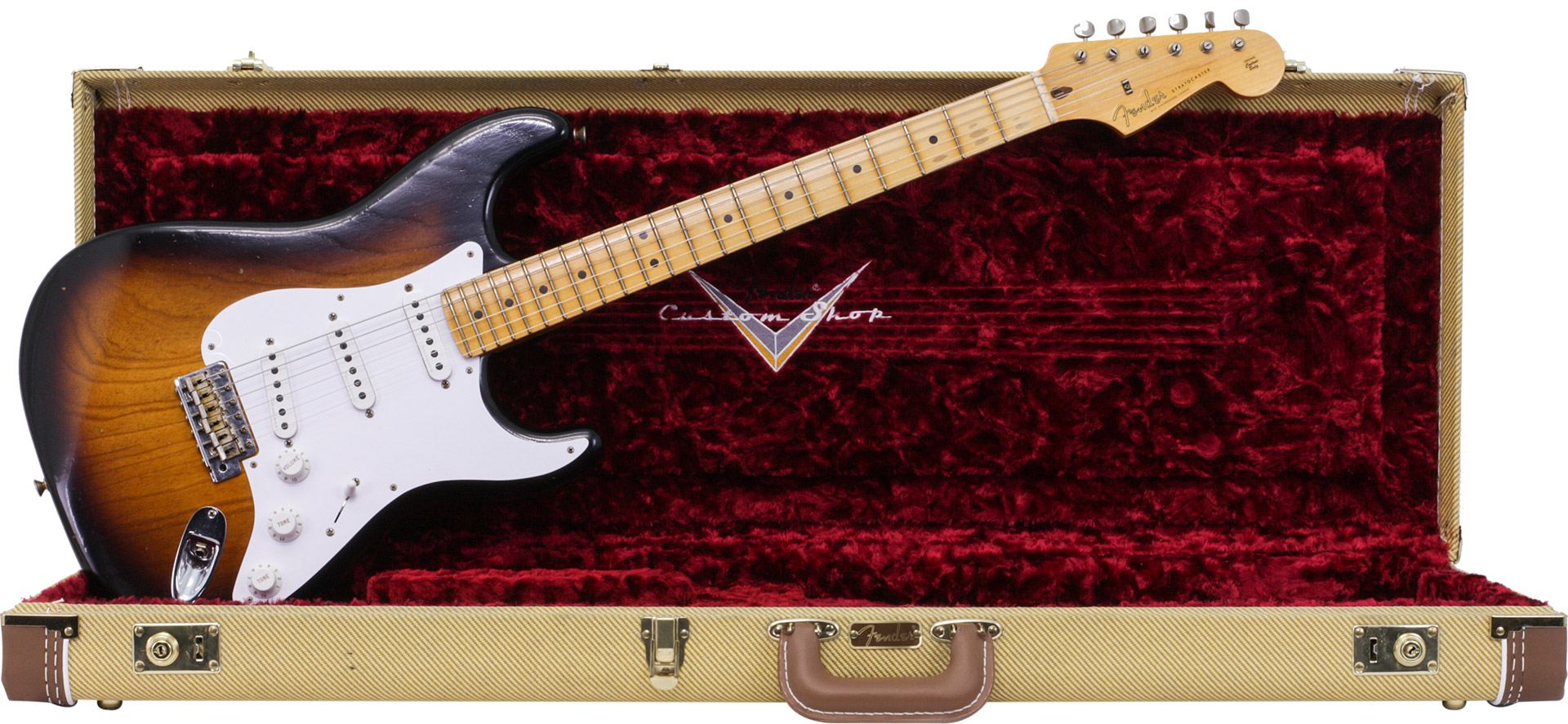 GUITARRA FENDER 150 7002 - SIG SERIES ERIC CLAPTON CUSTOM SHOP JOURNEYMAN RELIC - 803 - 2-TONE SB
