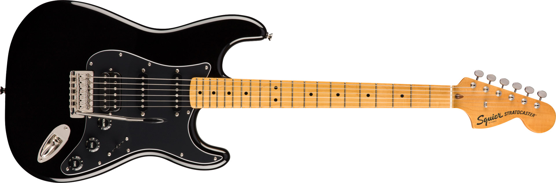 GUITARRA FENDER SQUIER CLASSIC VIBE 70S STRATOCASTER HSS MN - 037-4023-506 - BLACK