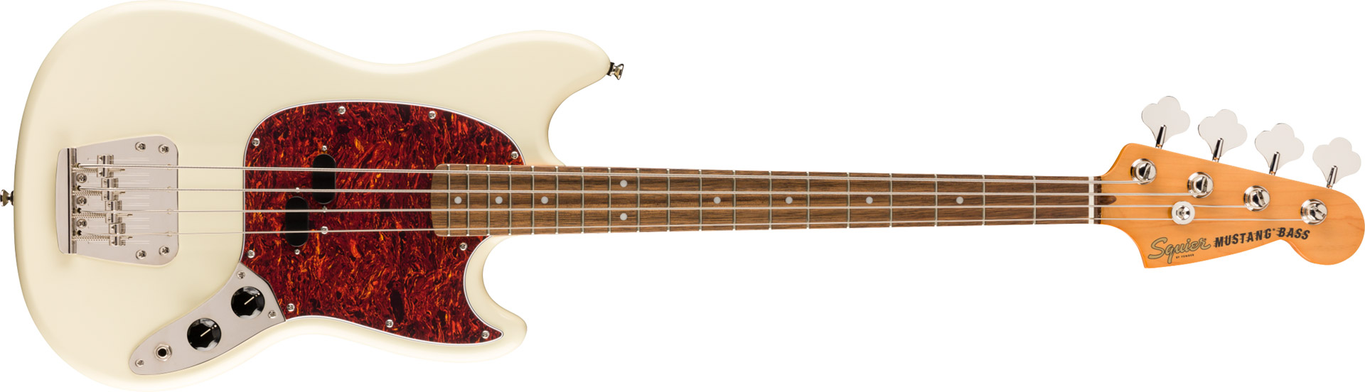 CONTRABAIXO FENDER SQUIER CLASSIC VIBE 60S MUSTANG BASS LR - 037-4570-505 - OLYMPIC WHITE